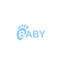 Bafeet icon isolated newborn foot print vector