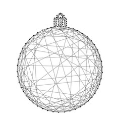 ball christmas toy symbol of new year from vector image