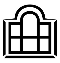 Beautiful window frame icon simple black style vector