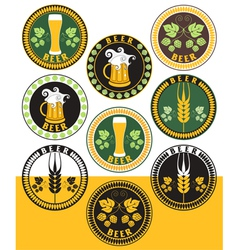 Beer labels vector