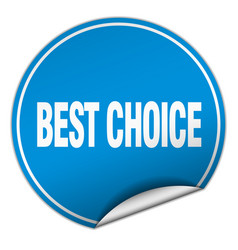 Best choice round blue sticker isolated on white vector