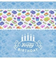 Birthday decorating design vector image