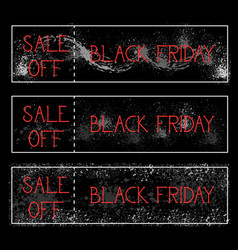 black friday sale off horizontal posters set vector image