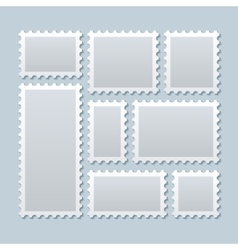 Blank postage stamps in different size vector image