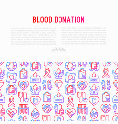 blood donation mutual aid concept vector image
