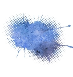 Blue grunge watercolor background vector