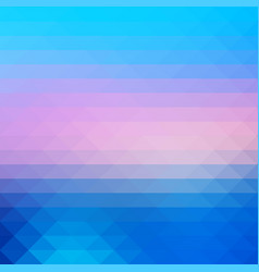 Blue shades pink rows of triangles background vector