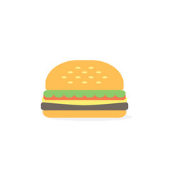 burger icon simple burger flat style vector image