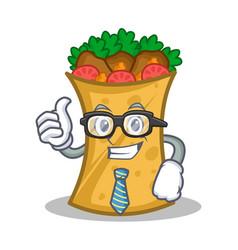Businessman kebab wrap character cartoon vector