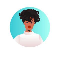 Businesswoman leader face avatar successful vector