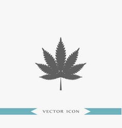 cannabis icon simple drug vector image