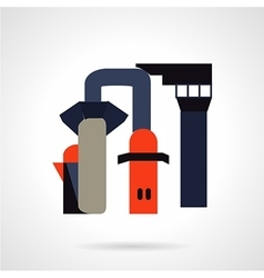 Chemical industry flat icon vector