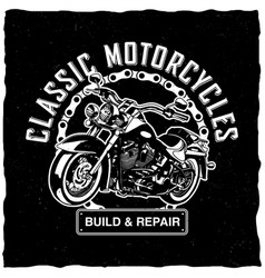classic motorcycles poster vector image