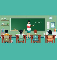 classroom math vector image