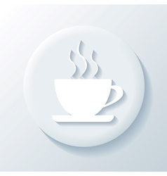 Coffee 3D Paper Icon vector
