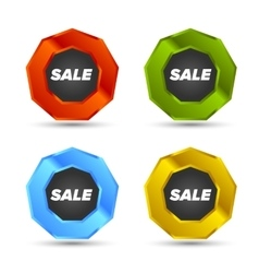 Colorful Sale tags vector image vector image