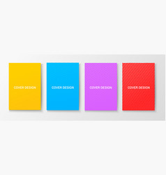 colorful trendy covers templates vector image