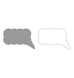 Comment grey set icon vector