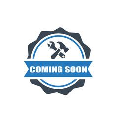 construction badge icon vector image