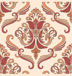damask seamless pattern element classical vector image