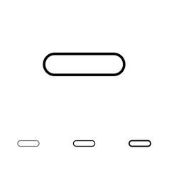 Delete less minus remove bold and thin black line vector