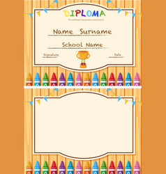 Diploma and blank writing area vector