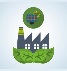 Eco design bio icon isolated green vector
