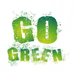 eco text vector image vector image