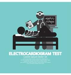 Electrocardiogram Test vector image
