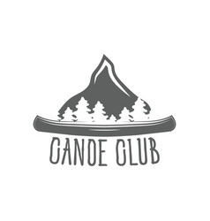 emblem canoe club logo from forest of tmountain vector image
