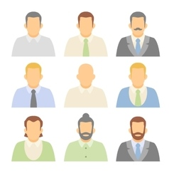 Flat characters avatars people vector image