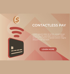 Flat concept of contactless payment page vector