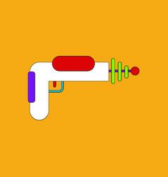 Flat icon design collection toy gun vector