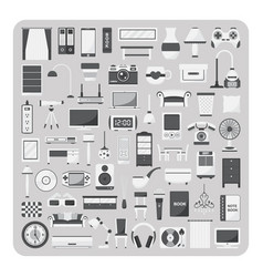 Flat icons living room set vector