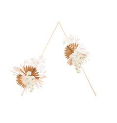 floral decoration frame dried lunaria vector image