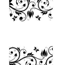 Floral Design Ornament vector image