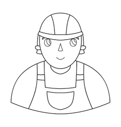 Foreman icon in outline style isolated on white vector