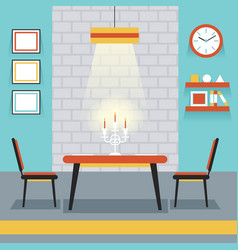 Furniture Display in Room Kitchen Dining Room vector