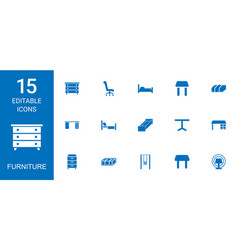 Furniture icons vector