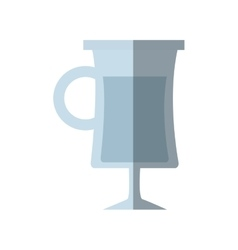 glass cup alcohol drink shadow vector image