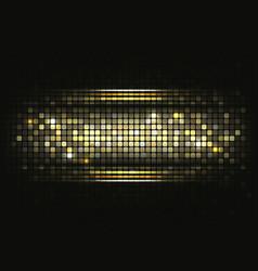 Gold shiny mosaic background vector