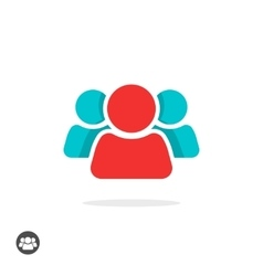 Group of three people icon isolated leader vector image