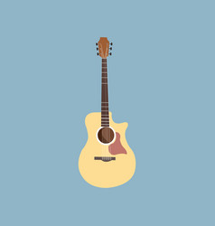 guitar musical string instrument collection vector image