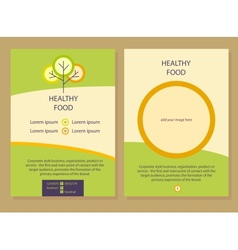 healthy food template flyer vector image