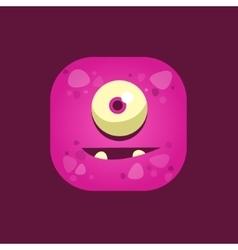 Hopeful Purple Monster Emoji Icon vector image