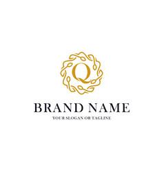 Initial letter q luxury ornament logo design vector