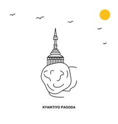 kyaiktiyo pagoda monument world travel natural vector image
