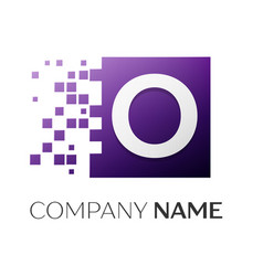 letter o logo symbol in the colorful square with vector image