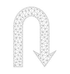 Mesh turn back icon vector