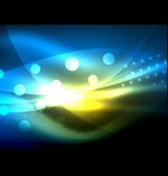 neon wave background with light effects curvy vector image